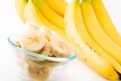 Um grupo das bananas foto de stock