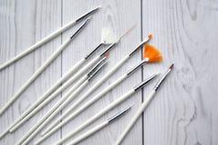 Um grupo das escovas brancas Imagens de Stock