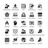 Um grupo de ícones contínuos do negócio e da finança ilustração stock