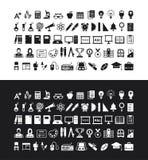 Um grupo de ícones da educação Imagens de Stock