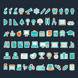 Um grupo de ícones da educação Foto de Stock