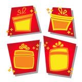 Um grupo de ícones para a venda em um estilo dos desenhos animados ícones do disconto na ilustração do vetor