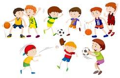 Um grupo de atleta ilustração stock