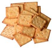 Um grupo de biscoitos no fundo do isolado Fotos de Stock Royalty Free