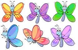 Um grupo de borboletas coloridas Foto de Stock Royalty Free