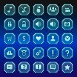 Um grupo de botões translúcidos Fotos de Stock