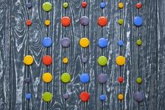 Um grupo de botões de vidro coloridos para a roupa Foto de Stock Royalty Free
