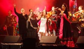 Um grupo de cantores fêmeas mexicanos chamou las mujeres de chavela Imagem de Stock
