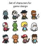 Um grupo de caráteres prontos para a animação Caráter para aplicações e o projeto de jogo móveis ilustração royalty free