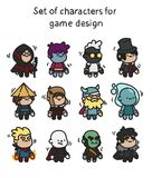 Um grupo de caráteres prontos para a animação Caráter para aplicações e o projeto de jogo móveis ilustração do vetor
