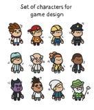 Um grupo de caráteres prontos para a animação Caráter para aplicações e o projeto de jogo móveis ilustração stock