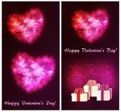 Um grupo de cartão para o dia do ` s do Valentim ilustração royalty free