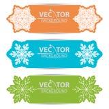 Um grupo de cartões com flocos de neve Fotografia de Stock Royalty Free