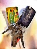Um grupo de chaves Imagem de Stock