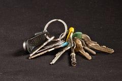 Um grupo de chaves imagens de stock royalty free