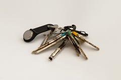 Um grupo de chaves foto de stock
