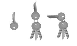 Um grupo de chaves da porta Foto de Stock