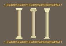 Um grupo de colunas antigas clássicas ilustração do vetor