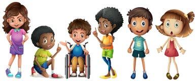 Um grupo de crianças ilustração stock