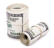 Dois 100 US$ Rolls Imagem de Stock Royalty Free