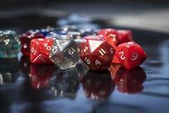 Um grupo de dados coloridos do RPG Fotografia de Stock Royalty Free
