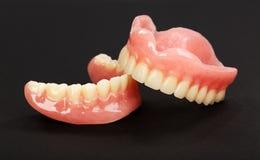 Um grupo de dentaduras Fotos de Stock Royalty Free
