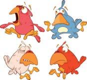 Um grupo de desenhos animados dos passarinhos Fotos de Stock Royalty Free