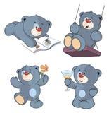 Um grupo de desenhos animados dos ursos ilustração do vetor