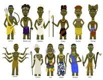 Um grupo de deuses africanos ilustração royalty free