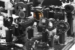 Dispositivos ópticos fotografia de stock