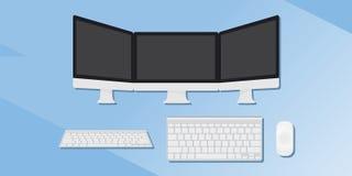 Um grupo de dispositivos Ilustração lisa Fotografia de Stock Royalty Free