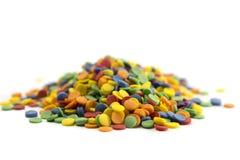 Um grupo de doces coloridos dos confetes foto de stock royalty free