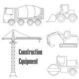 Um grupo de elementos do projeto para a construção ilustração do vetor
