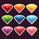 Um grupo de etiquetas com gemas Imagens de Stock Royalty Free