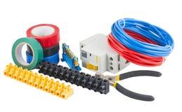 Um grupo de ferramentas elétricas Foto de Stock