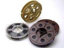 Um grupo de fitas velhas do filme de 8mm Imagens de Stock Royalty Free