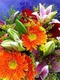 Um grupo de flores imagem de stock