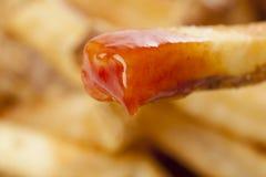 Um grupo de fritadas francesas quentes Imagens de Stock