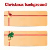 Um grupo de fundo do Natal e do ano novo com decoros do Natal Imagens de Stock