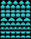 Um grupo de invasores do espaço Foto de Stock