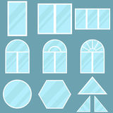 Um grupo de janelas Fotos de Stock Royalty Free