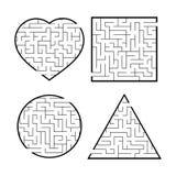 Um grupo de labirintos Jogo para mi?dos Enigma para crian?as Enigma do labirinto Encontre o trajeto direito Ilustra??o do vetor ilustração stock