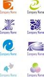 Um grupo de logotipos Imagem de Stock