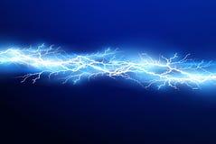Um grupo de mágica do relâmpago e de efeitos da luz brilhantes Ilustração do vetor Corrente elétrica da descarga Corrente de carg ilustração royalty free
