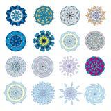 Um grupo de mandalas coloridas Imagem de Stock Royalty Free