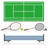 Um grupo de material desportivo, ilustração do vetor Imagem de Stock Royalty Free
