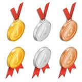 Um grupo de medalhas da concessão Fotos de Stock Royalty Free