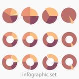 Um grupo de 12 multi-colorido em volta dos diagramas Infographics imagens de stock
