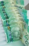 Notas de dólar do canadense vinte do retrato Fotos de Stock Royalty Free
