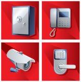Um grupo de objetos do controle de acesso Vetor ilustração do vetor